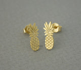 Cute Pineapple stud earrings in 2 colors, E0662G