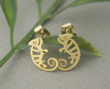 Cute Chameleon stud Earrings in 2 colors, E0667S