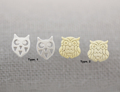 Cute Owl studs earrings, Bird Earrings, Animal earrings