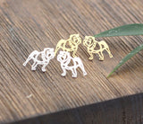 Cute french bulldog Stud Earrings in gold or silver, E0045G