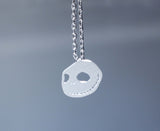 Cute Smile Skull face charm pendant necklace in gold / silver