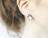 Totoro and Susuwatari Earrings ,Totoro post earrings My neighbor Totoro stud earrings