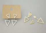 Arrows Front and Back earrings, Triangle  Front and Back earrings in 2 colors, E0689S