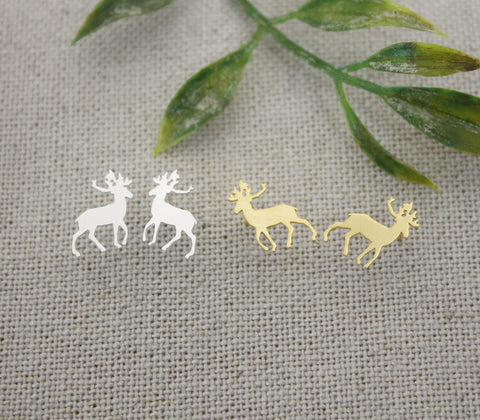 Antler, Elk Deer stud earrings in 2 colors, E0251G