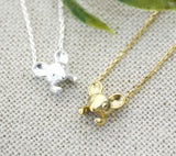Cute Mouse necklace in gold /silver
