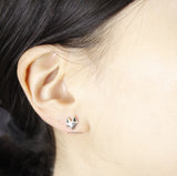 925 sterling silver Fox Face stud Earrings, E0488S