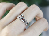 925 sterling silver Tiara Ring detailed in Heart and Star(choose one)