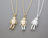cute and unique Robot toy necklace 3 colors, N0915G