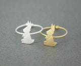 Cute Origami Rabbit adjustable Ring in 2 colors, R0501G