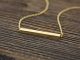 Long bar necklace in gold / silver(925 sterling silver / plated over Brass)