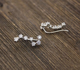 Cubic Big Dipper Constellation Ear Climber Earrings, Stars ear pin, Big Dipper CZ Crawler
