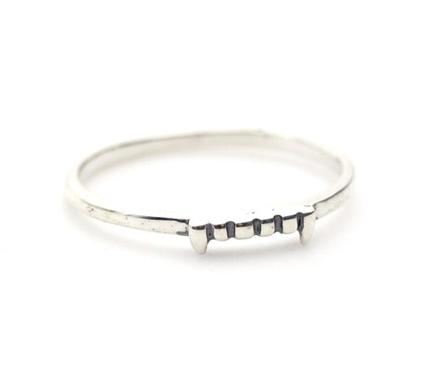 925 Sterling Silver Vampire teeth Ring