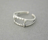 925 Sterling Silver Vampire teeth ,wild beast teeth, predatory animal teeth Ring,R0508S