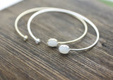 Moonstone Bangle bracelet in gold / silver, B0032G