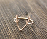 Antler ring, Deer ring, stag ring, horn ring, reindeer ring in Gold / Silver/ Rose Gold(925 sterling silver / plated over Brass), R0264K