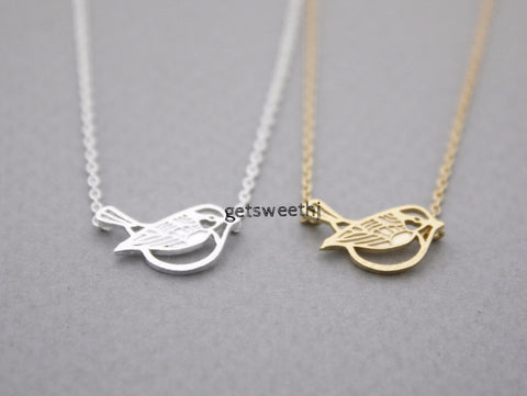 Little Sparrow Necklace in gold /silver, N0956G