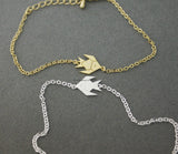 Cute Origami Tropical Fish, Gold Fish Charm Bracelet  in 2 colors, B0540G