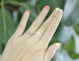 Cut-Out Bay Leaf branch Ring in GOLD and SILVER-Adjustable Ring, R0052G