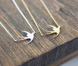Swallow Bird Necklace in 2 colors, N0057G