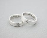 925 sterling silver Key and Lock Ring ,Couple Rings,Custom Personalized Initial Ring