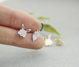 cute-Bunny and Carrot post earrings in 2 colors, E0290S