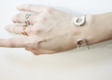 Big and Wide safety pin Cuff bangle bracelet in 3 colors