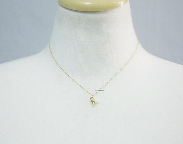 Little sparrow on hat pendant necklace in gold silver n0726g aloadofball Images