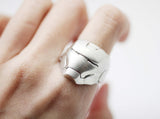 925 sterling silver Stunning silver iron man helmet ring,Men's statement ring, Superhero silver ring, Geeky men's ring, Geeky rings for men,Geeky statement ring, R1041S