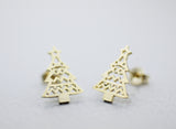 Holiday Earrings Christmas Reindeer and Christmas Tree stud Earrings in 2 colors
