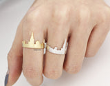 Cityscape Ring, Skyline ring- New York, adjustable ring in 3 colors- Adjustable Ring, R0328K