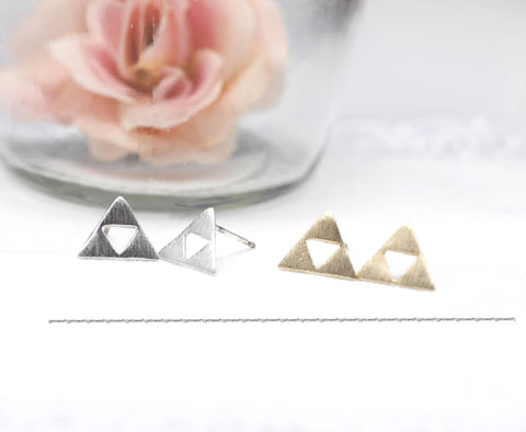 Tri Force Earrings in gold / silver