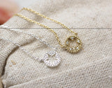 Star Cutout with cubic zirconia detail pendant necklace in gold silver