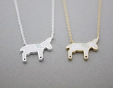 Dala HORSE ,Donkey enamel Charm Necklace  in silver/ gold, N0996G