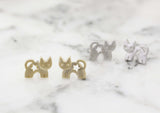 Cute Kitty cat stud earrings in 2 colors