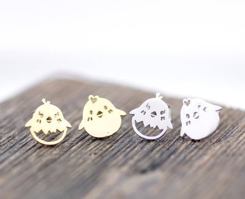 cute and unique Chick Stud Earrings in gold /silver, E0097S