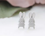 Cute Rabbit stud earrings in 2 colors