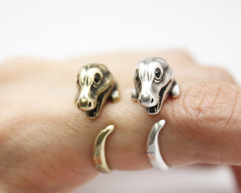Cute Tyrannosaurus dinosaur Wrap adjustable Ring, R0266S