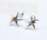 Starfish Earrings in Gold and Silver