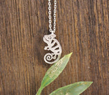Cute Chameleon pendant necklaces in 3 colors, N0120K