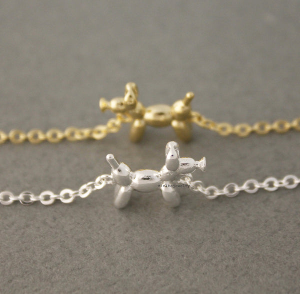 Super Lovely Poodle Dog pendant Necklace in GOLD / SILVER LG94