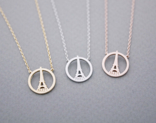 Arrow ring with rhinestone in gold silver adjustable ring eiffel tower necklace paris necklace in 3 colors n1022k mozeypictures Image collections