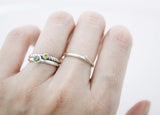 925 Sterling Silver A Set of 3 Stacking Ring detailed with colored Cubic Zirconia, R1034S