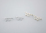 Serotonin Molecule Ear climber, Serotonin Ear Crawle,Molecule ear Sweep earrings