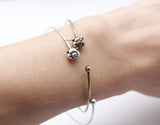 Cute Pig Wrap bangle Bracelet, B0752S