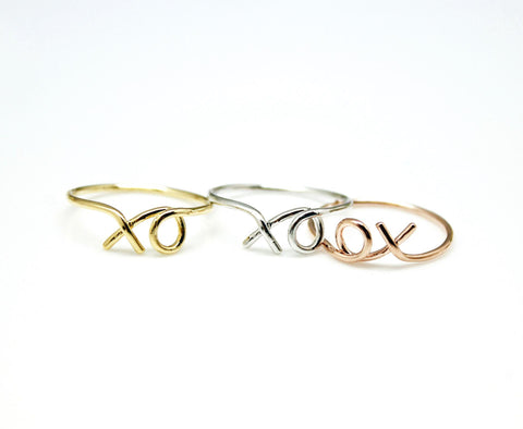 xo Hug and Kiss Ring in 3 Colors