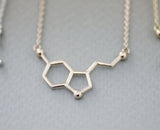 Ecstasy Molecule Necklace / Serotonin Molecule Necklace / Vitamin C Molecule Necklace