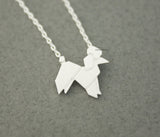Origami Lovely Balloon Poodle Dog Necklace in 2 colors, N0601G