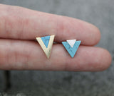 Various Figure geometry Turquoise Stud earrings ,Geometric Turquoise Earrings