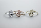 Cute Cut-out Pineapple adjustable ring in 3 colors