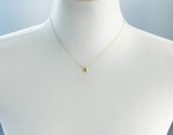 3D Cube Square charm pendant necklace in gold / silver, N0393G
